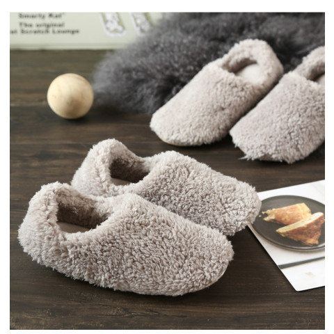 Warm fleece plush anti-skid Slippers Shoes