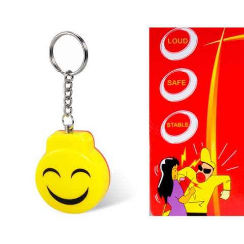 Smile Face Alarm Keychain