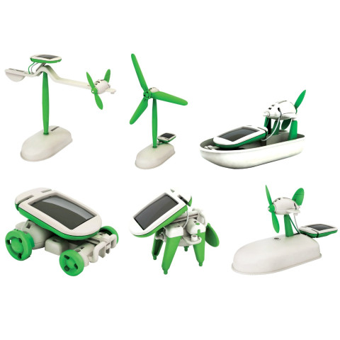 Solar power 6 in 1 toy kit