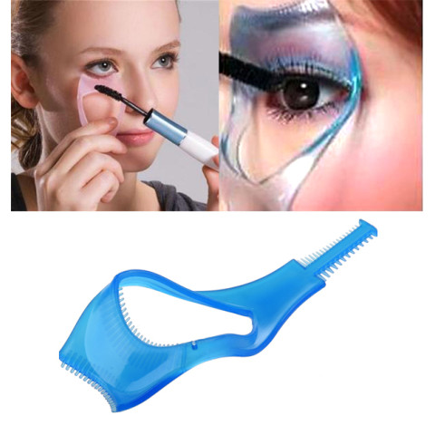 3 IN 1 Cosmetic Mascara Applicator Guide Eyelash Comb
