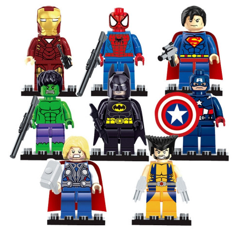 Super Heroes Marvel Figures Captain Building Blocks Mini Bricks