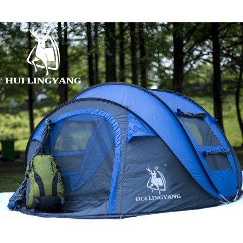 Outdoor automatic open camping tent