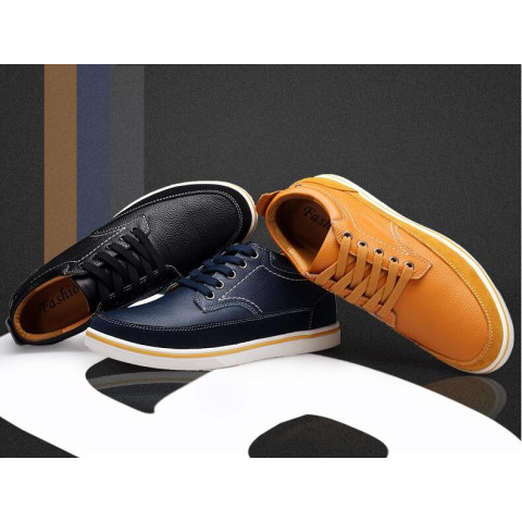 Spring leather casual shoes