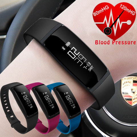 V07 Blood Pressure Heart Rate Monitor  Smart bracelet