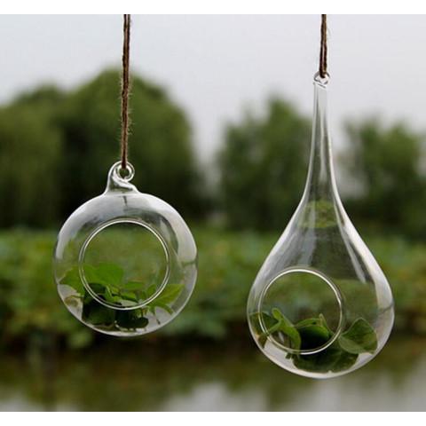 Transparent  Hanging Glass Vase