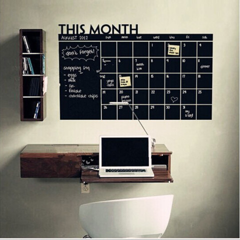 Calendar Chalkboard Removable Planner Wall Stickers