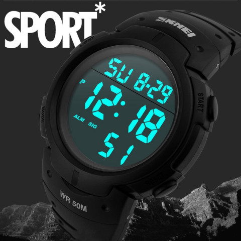 Water Resistant Digital LED Watch