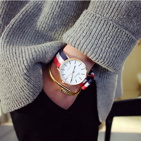 Women's Nylon Strap Casual Wristwatch