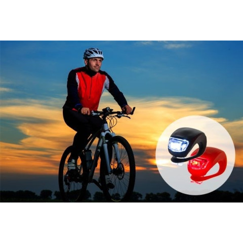 Waterproof SILICON Bike Bicycle Cycling Beetle Warning Light LED Front Light Rear Tail Lamp