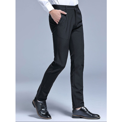Men's Slim Fit Wrinkle-Free Casual Stretch Dress Pants
