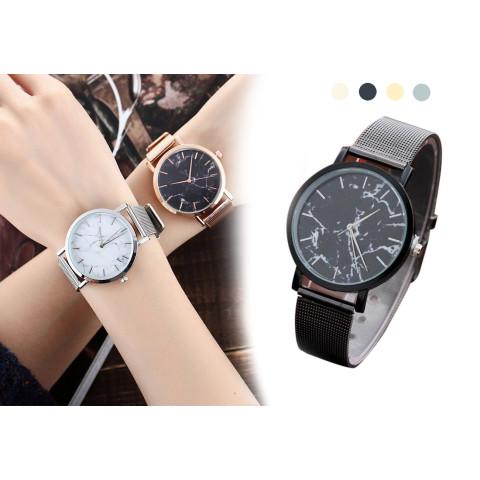 Unique Marble Grain Dial Quartz Wrist Watch