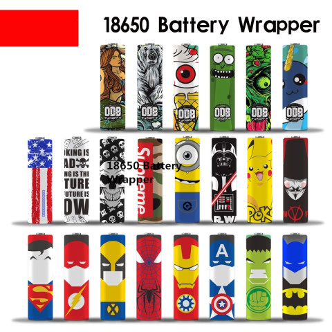 10pcs Cute 18650 Battery Wrapper